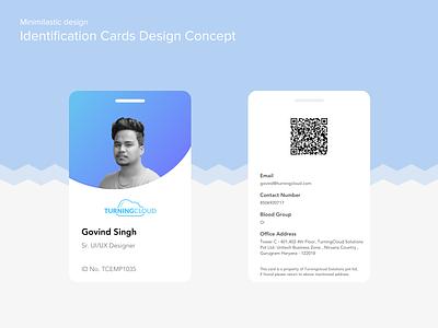 ID CARD SHOWCASE showcase light colors blue user experience uidesign uxdesign photo id card clean ui minimalistic id card design
