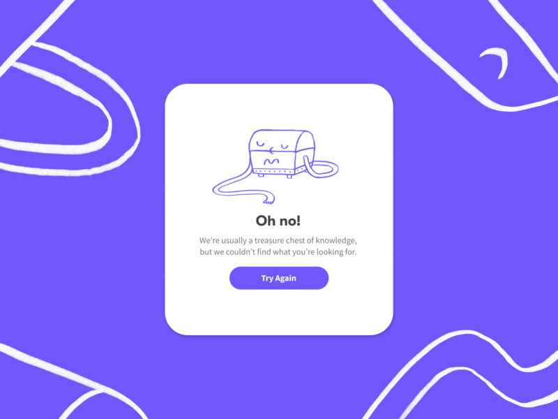 Error Page for Mobile App illustration character illustration character design character mobile app design mobile app mobile ui design oops error page not found empty state 404 page