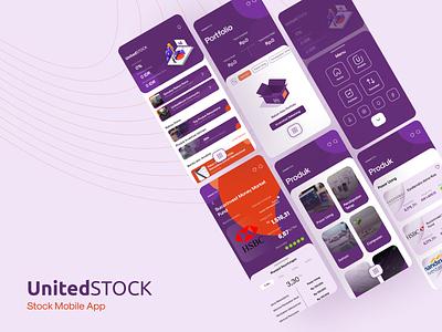 UnitedStock Mobile App money app bankapp stockapp funds ui uidesign design app design
