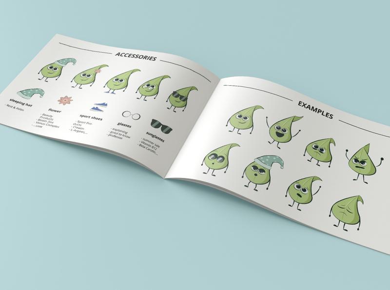Leaf Character Design guideline character vegan mascot mascot character character design vector illustration flatart
