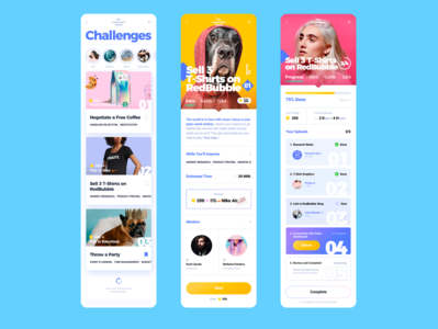 Challenges Mobile App UIUX Design For Teenagers mobile ux uxdesign mobile app design mobile design uidesign ui sketchapp design app