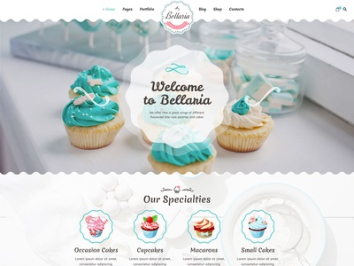 Bellaria HTML template design template yogurt restaurant pastry shop pastry ice-cream food dessert cupcake coffee chocolate candy cake bellaria bakery bakeries