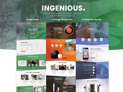 Ingenious - Smart Home Automation Template energy camera security template automation smarthome smart