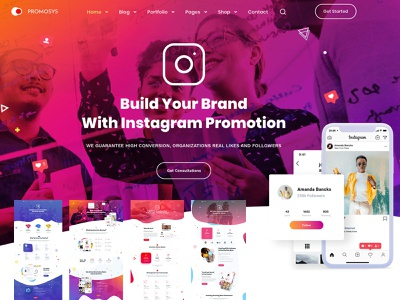 PromoSys - Promotion Services Multi-Purpose WordPress Theme tech startup startup business startup social networks promotion agency multipurpose digital agency creative startup creative multipurpose creative business creative agency creative agency