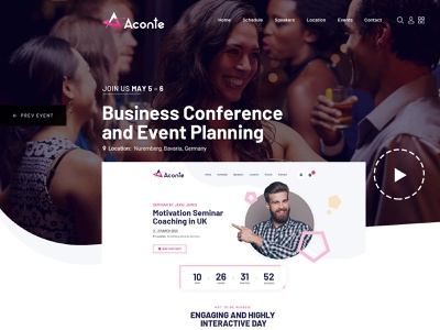 Aconte Conference meeting conference website html wordpress wip