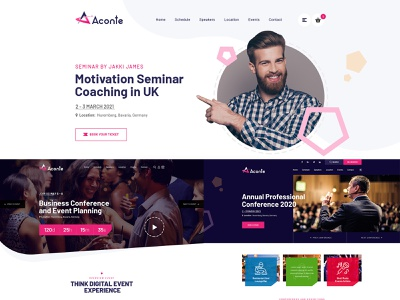 Aconte Event Conference & Meetup HTML Template event conference meetup aconte html