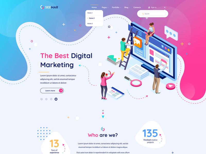 SeeMar - SEO Project WIP template blog creative design agency marketing seo wordpress