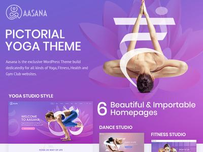 Aasana Health & Yoga WordPress Theme