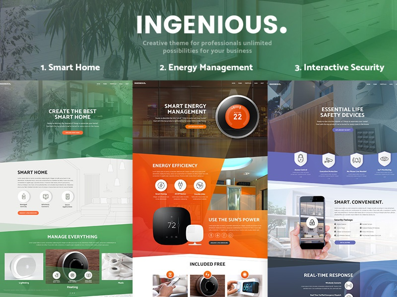 Ingeniuos Smart Home Automation Theme By Creativews On Dribbble