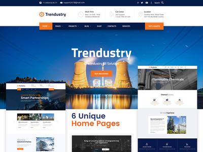 Trendustry Industrial Manufacturing Wordpress Theme