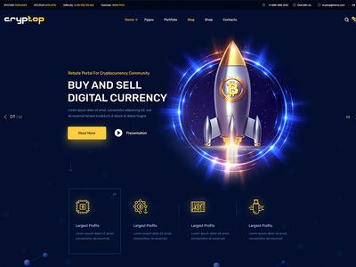 Cryptop Crypto Currency WordPress Theme