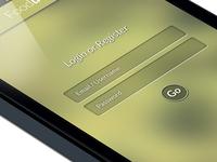 App Re design Login Page