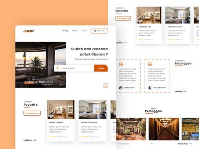 Hotel Booking - Landing Page - Rebound rebound destinations inspiration minimalist homepage testimonials clean design booking accomodation travel hotel landing page web design web