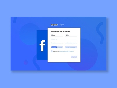 Facebook sign up redesign