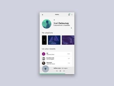 User profile - music app