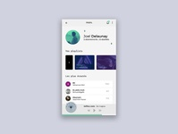 User profile - music app