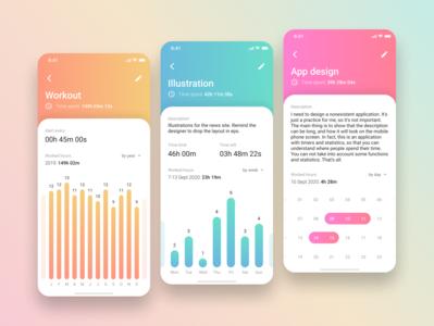 Task statistic mobile app