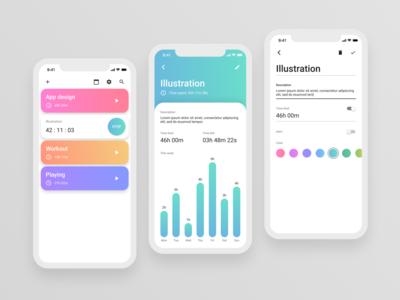 Time tracking app v.1