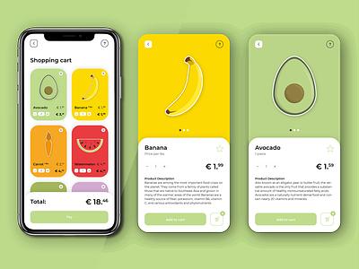 Fruit Vegetable Store - Mobile App modern flat illustration design application mobile app design mobile ui showreal mobile app mobile food app food e-commerce e-commerce app app design app
