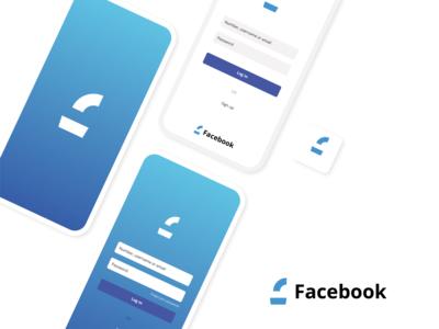 Facebook re-design modern. branding logo design icon vector modern illustrator design illustration logo facebook