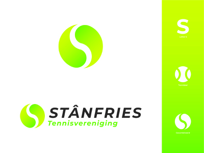 TV Stânfries Logo | Tennisclub branding icon vector flat design modern illustrator flat design illustration logo