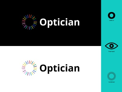 Optician Logo colors colorful colorfull glass glasses eyesight logo design eyes branddesign logodesign flat design icon vector flat branding modern illustrator illustration design logo