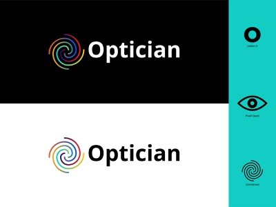 Optician Logo graphicdesign branding design graphic design colors colorful eyes glasses eye lines gradiant flat design icon vector flat branding modern illustrator illustration design logo