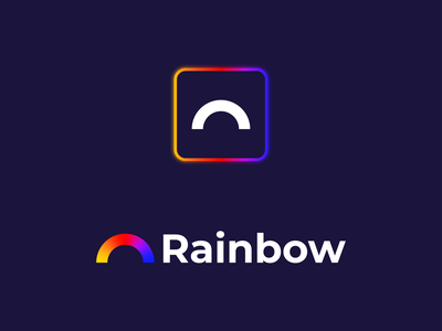 Rainbow Logo Concept rain glow concept rainbow graphic design gradiant flat design icon vector flat branding modern illustrator illustration design logo