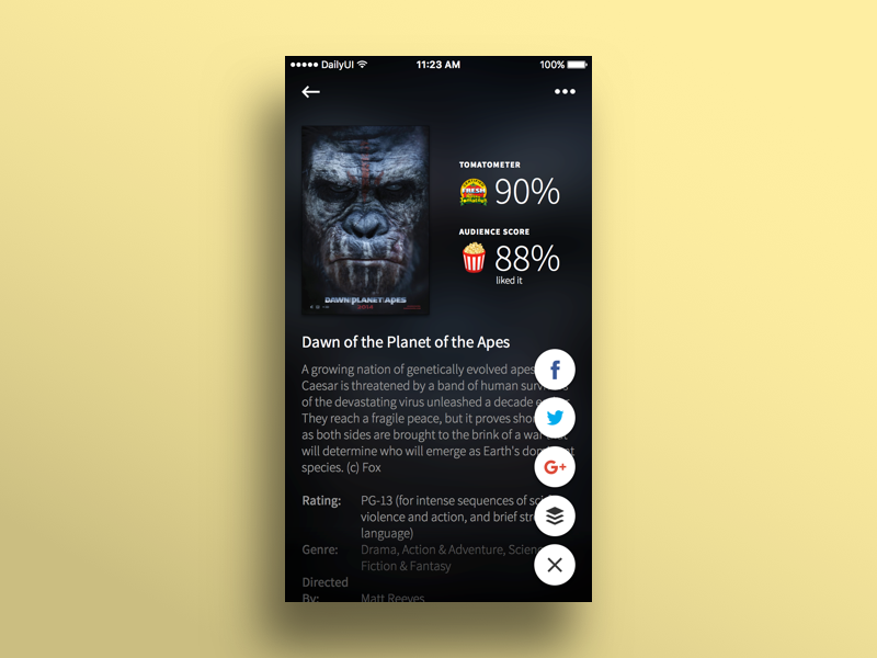 Daily UI #010 (FINAL) — Social Share