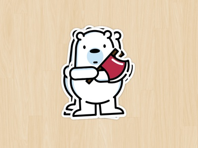 Ice Bear Sticker — Thanks, Stickermule!