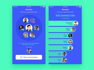 Habbit design ui ios friends app habit goal