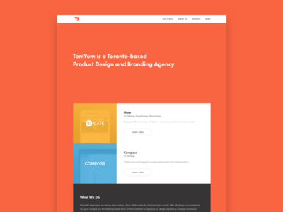 Introducing TomYum ui flat new portfolio tomyum website agency design