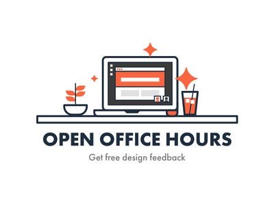 Open Office Hours with TomYum hours office desk computer flat illustration