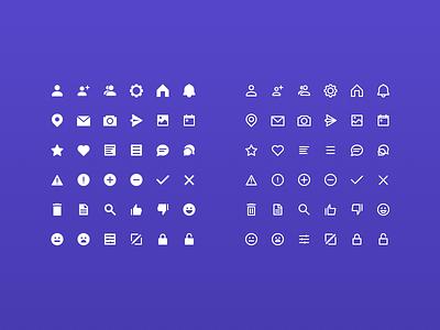 UI Icon Set person filled stroke line icon flat icon set set ui icon
