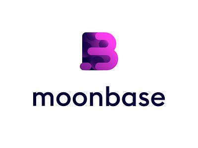 Moonbase logo 1 blockchain cryptocurrency gradient colour color identity brand logomark logo