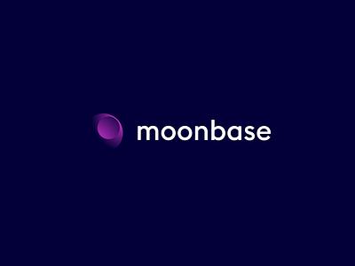 Moonbase logo 2 blockchain cryptocurrency gradient colour color identity brand logomark logo