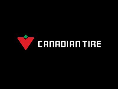 Canadian Tire Logo logomark logotype typeface maple leaf triangle canada canadian tire tire canadian logo