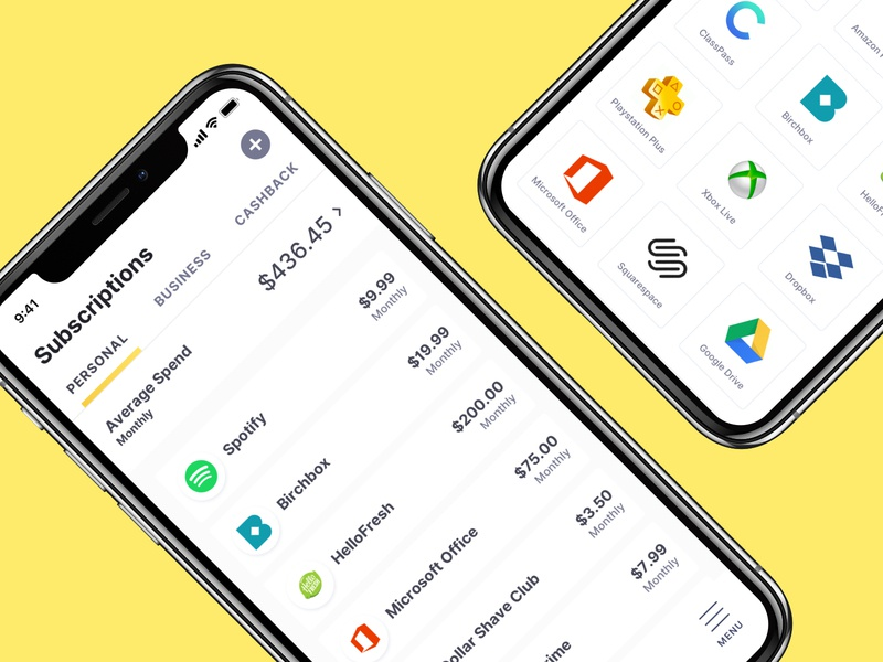 Butter App ux ui finance subscription app