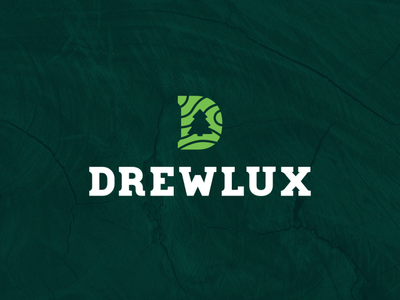 Drewlux - logo and ID poland branding nature green tree logo letter d letter d design forest wood id