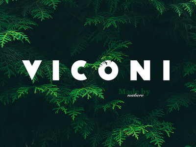 VICONI typo minimal green bronze nature wood v