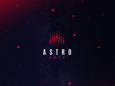 Astro dots logo dots a rocket astronaut cosmos sky logo astro