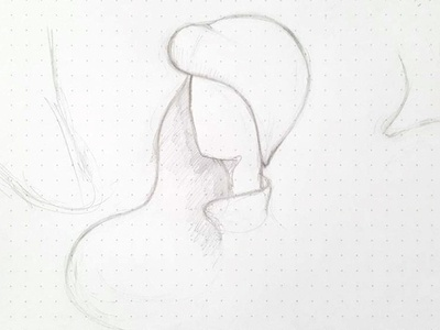 woman illustration [sketch] lublin industi hairs sketch illustration woman