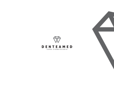 denteamed logo poland lublin team medic dental teeth tooth mark logo