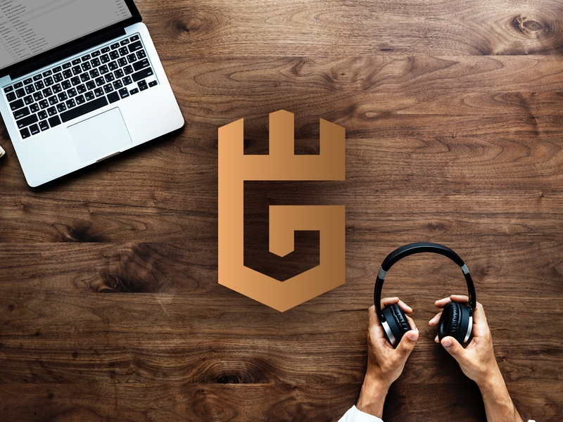 EG industi crown shield letter g e eg