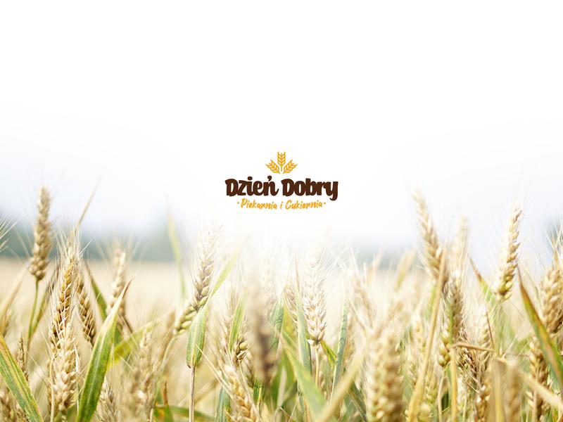 Dzień Dobry (Good Morning) Bakery logo eco nature fresh grain bread logo bakery