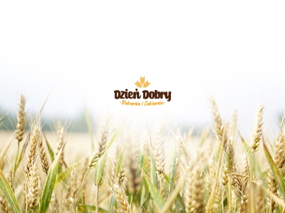 Dzień Dobry (Good Morning) Bakery logo eco nature fresh grain bread logo bakery