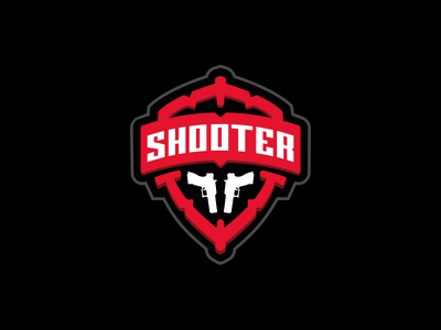 shooter logo for sale fire gun ammo guns badge police military range shooting shooter