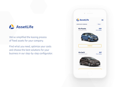 AssetLife - lease at ease polish app ux ui branding poland design lublin