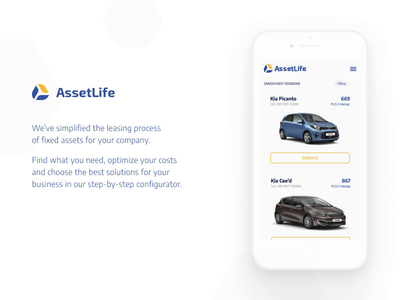 AssetLife - lease at ease polish app ux ui branding poland design lublin