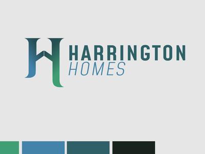 Harrington Homes Real Estate Logo graphic design logo design illustration design brand logo